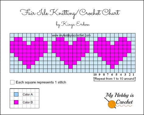 heart graph pattern my hobby is crochet a hat with love free crochet