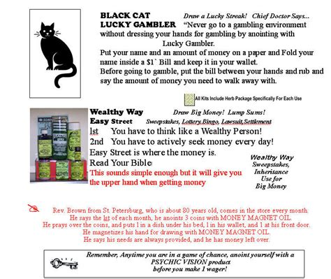 Prayer For Winning Money - use your lucky mojo power to be a lucky winner gambler win at bingo win at lottery