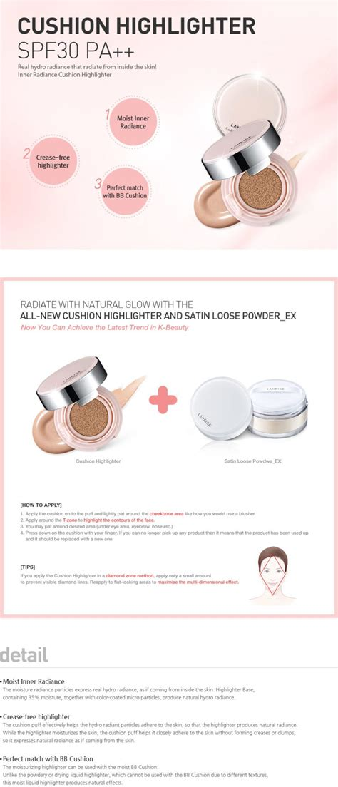 Laneige Cushion Highlighter laneige cushion highlighter seoul next by you malaysia