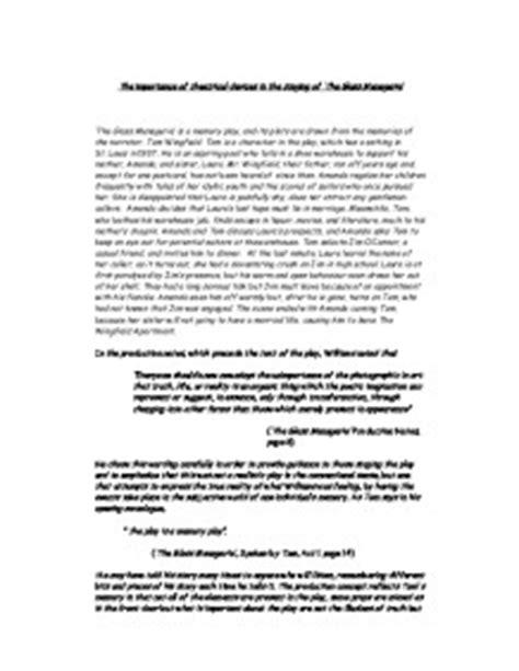 The Glass Essay Analysis by Glass Menagerie Analysis Essay Ghostwriternickelodeon Web Fc2