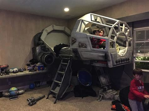 amazing dad built  awesome star wars millennium