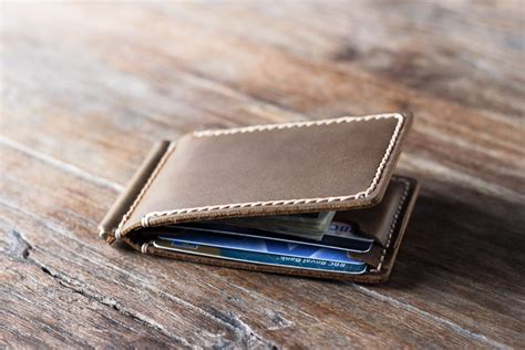 Handmade Leather Money Clip Wallet - leather money clip wallet personalized handmade perfection