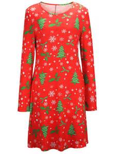 Gt clothing gt dresses gt christmas tree snowflake graphic a line dress