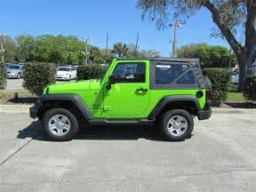 Lime Green Jeep Wrangler For Sale 2012 Gecko Pearl Jeep Wrangler Sport 4x4 Suv Lime Green