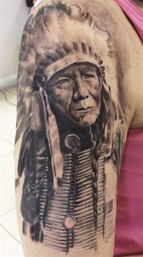 native american sleeve tattoo designs american chief on half sleeve tattoos book
