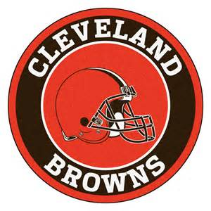 Holiday Doormats Cleveland Browns Logo Roundel Mat 27 Quot Round Area Rug