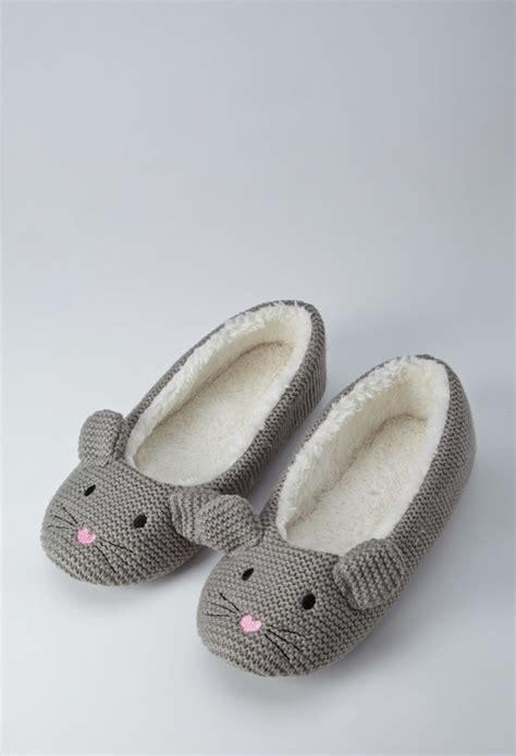 forever 21 slippers forever 21 mouse slippers in gray lyst