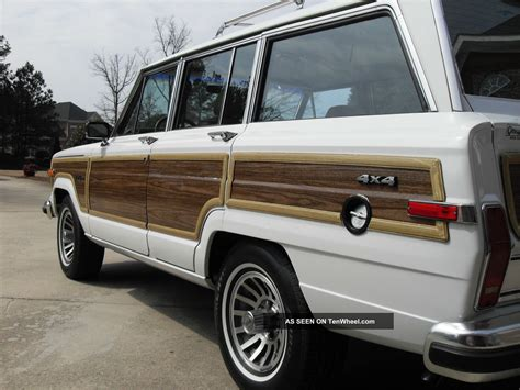 wrecked white jeep grand 1988 jeep grand wagoneer all never wrecked