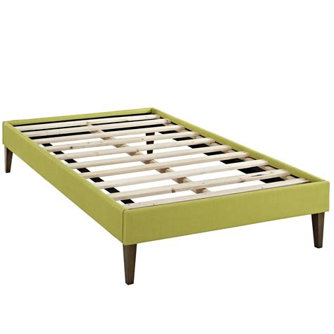 modern platform bed frame sharon modern twin fabric platform bed frame with square