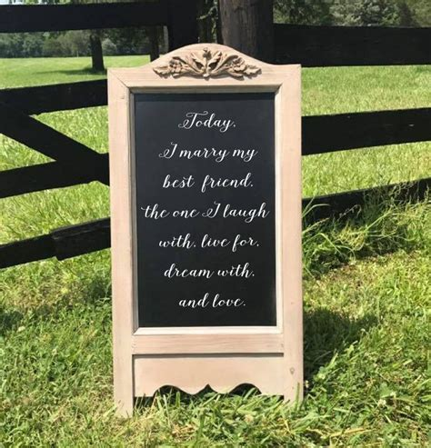 Today I Marry My Best Friend Wedding Chalkboard Easel Sign