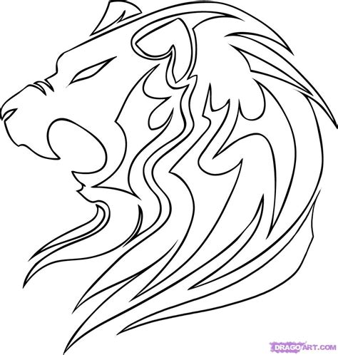 how to draw a tribal lion step by step tribal art pop