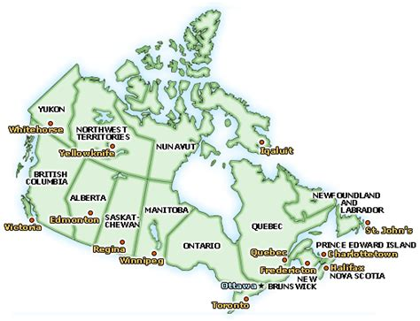canadian map of provinces and territories capital map canada