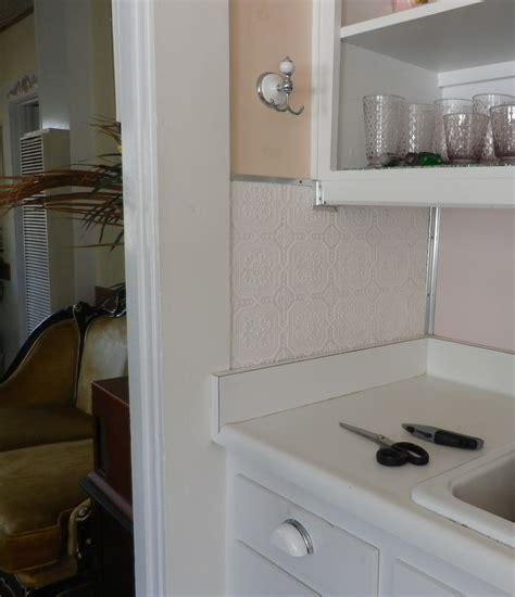plastic kitchen backsplash how to paint a faux pressed tin tile backsplash artifact