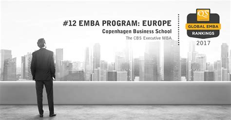 Best Place For Mba In Europe by Cbs Executive Mba Placed 12 In Europe In The Qs Emba