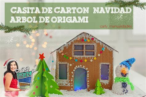 diy como hacer casitas portatarjetas diy decoraci 243 n de navidad casita de cart 243 n con luzarbol