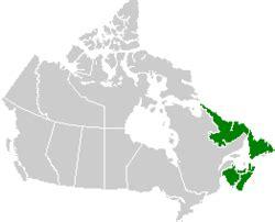 canada atlantic provinces map provincias atl 225 nticas de canad 225 la