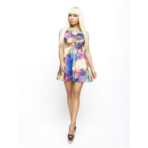 Intuitions New Spin On The Galaxy Dress by Nicki Minaj S Keyhole Dress Galaxy