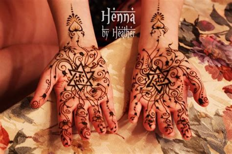 star henna tattoo a bridal henna design with the of david and
