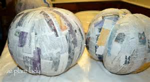 A Paper Mache - create your own pumpkins using paper mache birds and blooms
