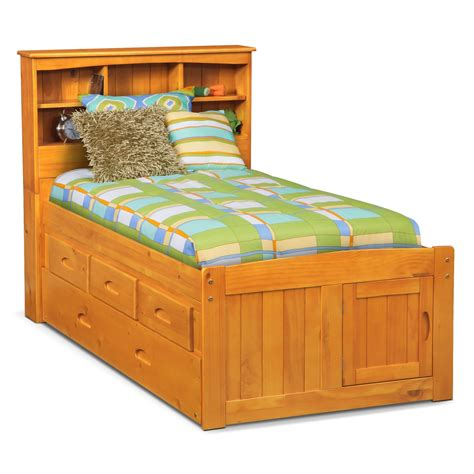 trundle bed with drawers ranger full bookcase bed with 3 underbed drawers and