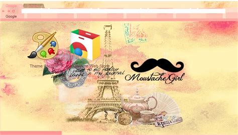 themes google chrome by sriitadewatt on deviantart moustache girl theme google chrome by sriitadewatt on