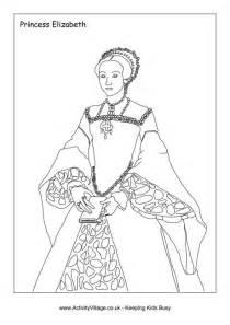 Elizabeth I Colouring Page