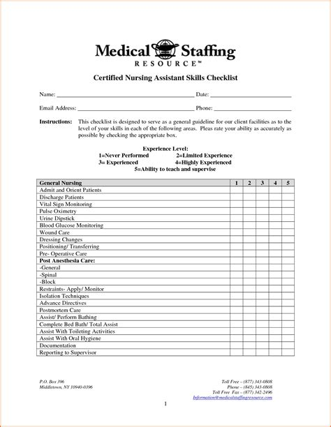 cna skills list for resume 28 images certified nursing