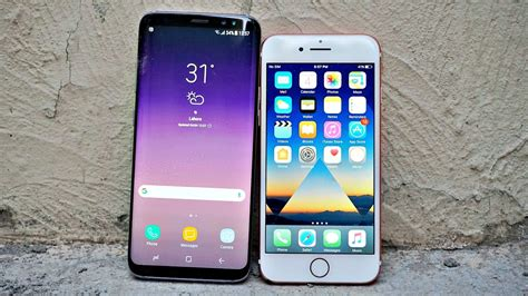 samsung galaxy s8 vs iphone 7 drop test