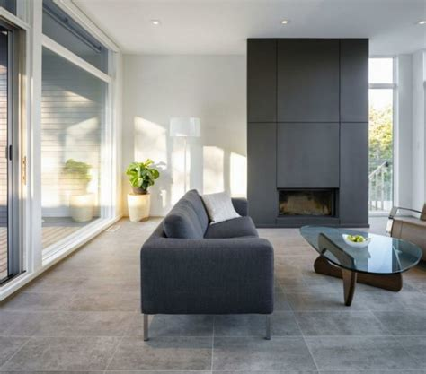 light filled contemporary living rooms gray tile floor living room peenmedia com