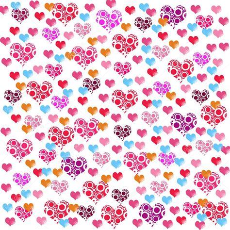 imagenes fondo blanco de amor coloridas ilustraciones de amor corazones sobre fondo