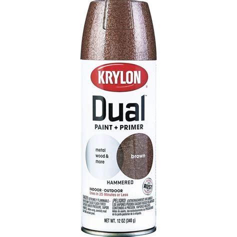 krylon 12 oz brown hammered dual paint primer spray paint k08842000 spray paint ace