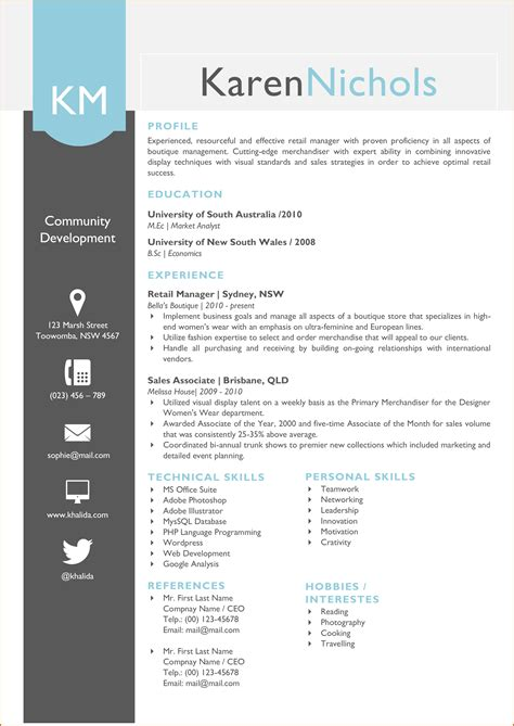 11 how to write an eye catching graduate CV   Lease Template