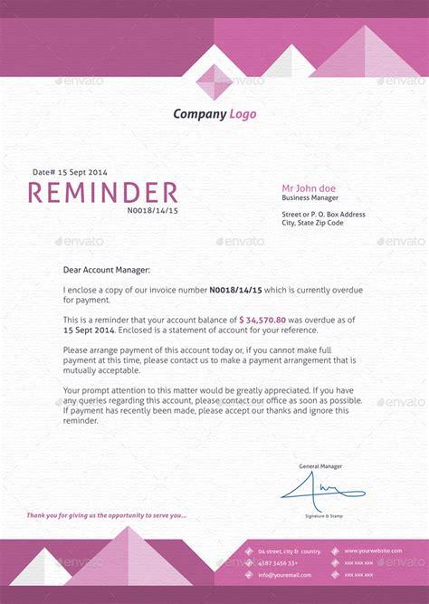 Reminder Credit Letter Modern Invoice By Kameln Graphicriver