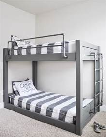 on bunk bed diy industrial bunk bed free plans cherished bliss