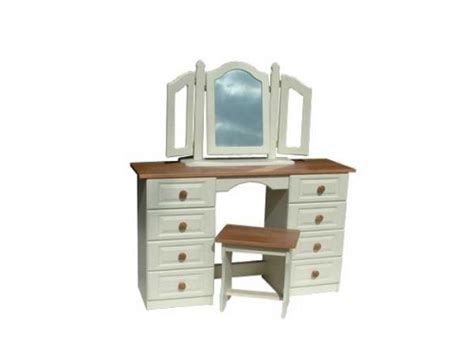 oak 6 drawer dressing table claddagh dressing table 6 drawer ivory oak cosi