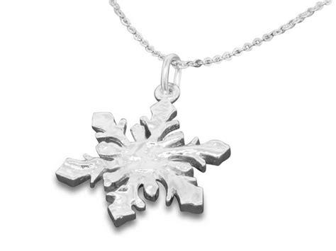Sterling Silver Snowflake Pendant sterling silver snowflake pendant necklace