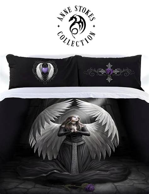 anne stokes bedding prayer for the fallen quilt set by anne stokes church of