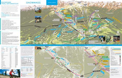 snowmass trail map vapor trail snowmass bike park aspen trail finder