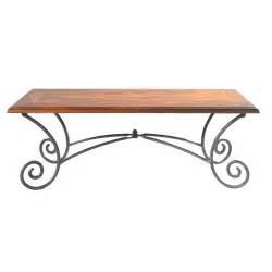 table basse en bois de sheesham massif et fer forg 233 l 120