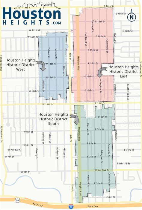 houston real estate map houston heights neighborhood real estate trends