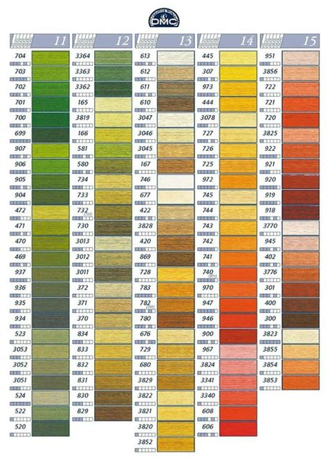 dmc thread color chart 7 best dmc floss color chart and numbers chart 2 images