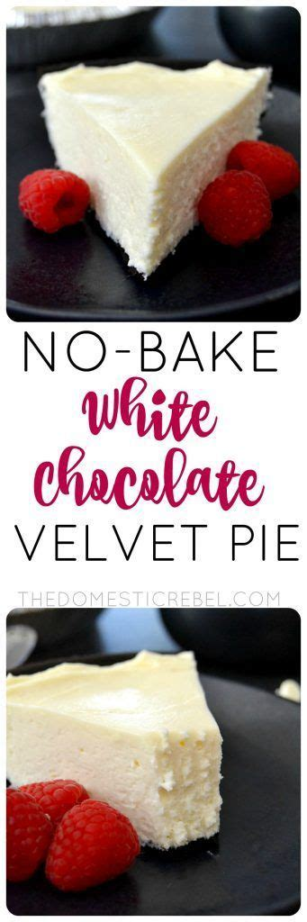 13 Ingredients And Directions Of Chocolate Velvet Pie Receipt by 25 Best Ideas About White Chocolate Cheesecake On