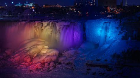A Frozen Niagara Falls Light Show Looks Like A Magical Frozen Light Show