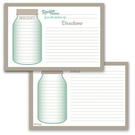 Hallmark Recipe Card Template by Dashleigh Designed Recipe Cards And Stationery
