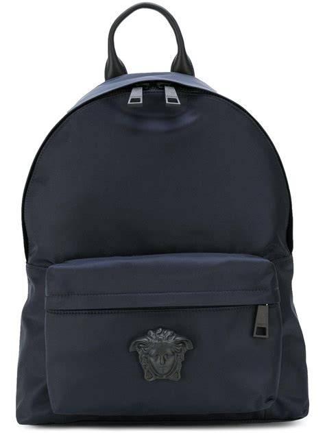 Tas Palazzo Backpack 24 versace medusa palazzo backpack in blue for lyst
