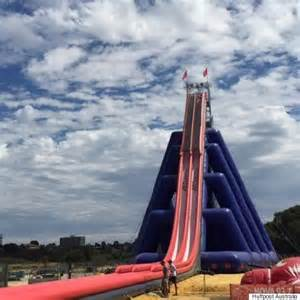 Best Inflatable Bed The Biggest Steepest Tallest Inflatable Waterslide In