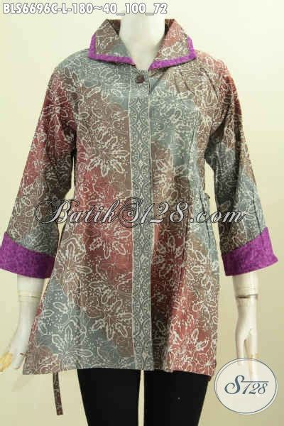 Pakaian Wanita Blus Batik Astri Motif 4 jual batik blus halus bahan embos pakaian batik