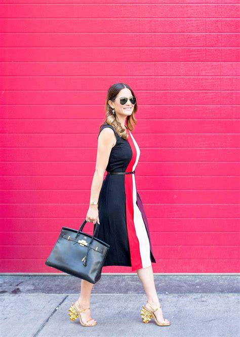 Djani Dress 1 colorblock midi dress