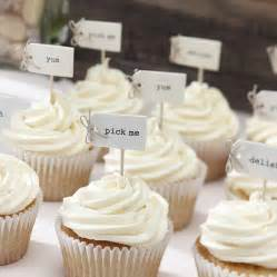 vintage style cupcake decorations by