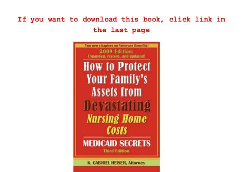 read how to protect your family s assets from devastating